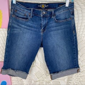 Lucky brand sweet n low Bermuda jean shorts 8/29